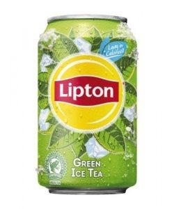 Blikje ice tea green