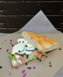 zalm sandwich XL